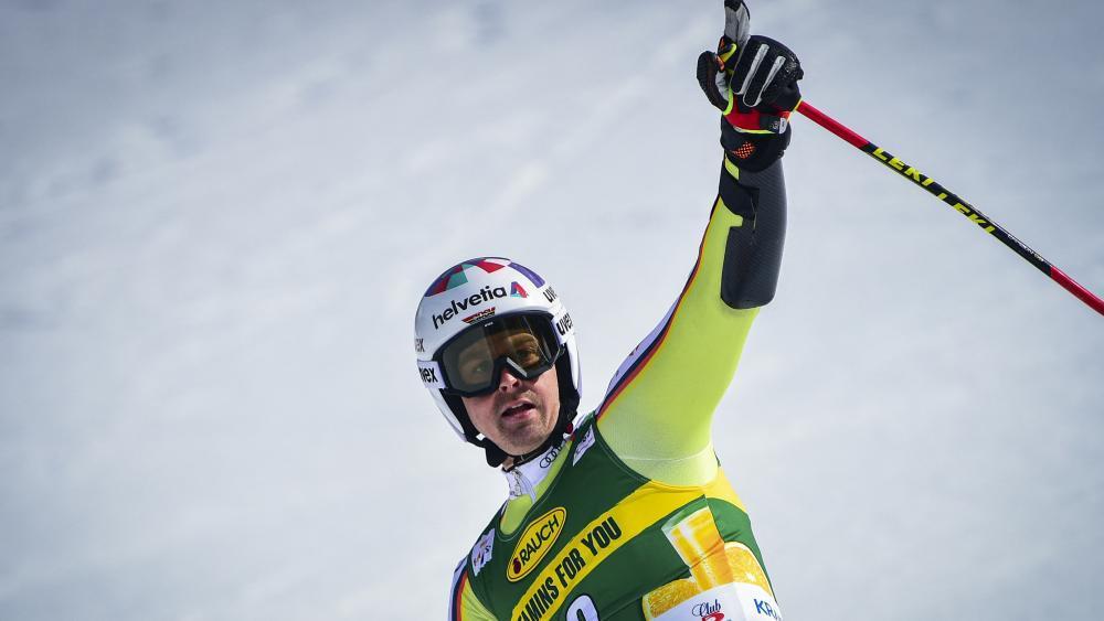 Deutscher Ski-Star im privaten Glück. © AFP / JURE MAKOVEC