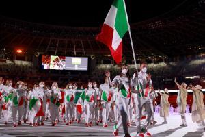 Italiens Team beim Einmarsch. © APA/afp / ODD ANDERSEN