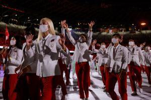 Japans Delegation beim Einmarsch. © APA/afp / ODD ANDERSEN