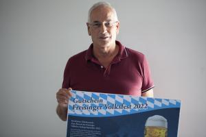 Peter Bellutti  mit seinem Hauptpreis.